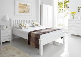 Shaker Bedroom Furniture Shaker White Wooden King Size Bed Frame Lfe Painted Wood
