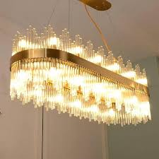 rectangle crystal chandelier modern rectangle crystal chandelier led lamp new fixture suspension lamps for living room rectangle crystal chandelier