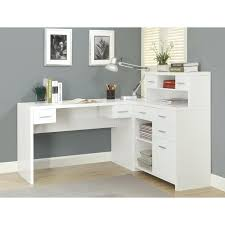 office corner desks. Home Office Corner Desk With Shelves Hutch 20 Arctic Computer In White Desks 5