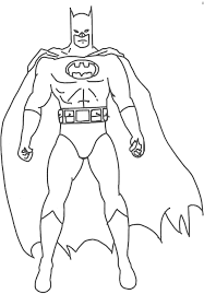 Small Picture Batman Man Cartoon Coloring Coloring Pages