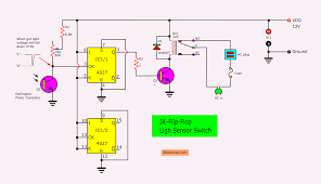 Flip Flops In Logic Design Light Sensor Switch Circuit Using Jk Flip Flop Eleccircuit