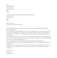 60 Day Apartment Notice Letter Template – Nortetic