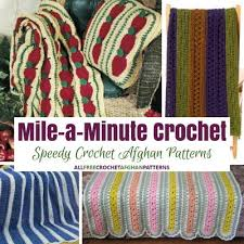 Red Heart Mile A Minute Afghan Pattern
