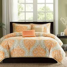 Best 25+ King size comforters ideas on Pinterest | King size ... & King size 5-Piece Comforter Set in Orange Damask Print Adamdwight.com
