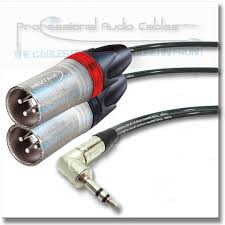 3 5 mm right angle stereo jack plug to twin male xlr neutrik stereo mini jack ntp3rc two xlr nc3mxx