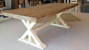 reclaimed wood trestle dining