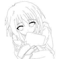 Anime Coloring Pictures Printable Anime Coloring Pages Girl