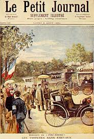 「1894, first car race between paris and ryan」の画像検索結果