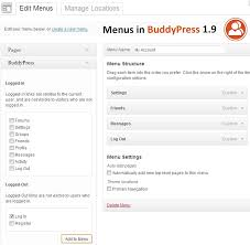 bp log buddypress 1 9 will include dynamic menu links wordpress tavern