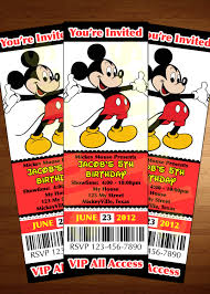 mickey mouse ticket invitation printable diy invite red mickey mouse ticket invitation printable diy invite red customized personalized modern print 🔎zoom