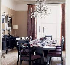 Retro Dining Room Design With Good Looking Dining Table And Chairs - Dining room crystal chandeliers