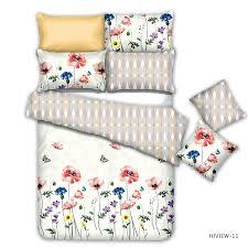 2018 new nature fl printed brushed microfiber bedding set pillowcase duvet cover set 3 colorway good
