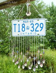 How To Make Wind Chimes How To Make A License Plate Wind Chime Thrifty Rebel Vintage