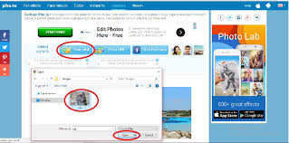 step 2 select the source out of disk url or facebook link to the picture that you want to edit