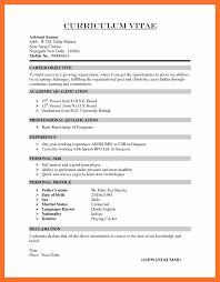 8 Format Of Cv Resume My Blog