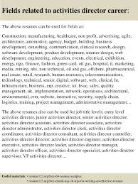 ... 16. Fields related to activities director ...
