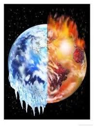 global warming art print illustration global  fire and ice