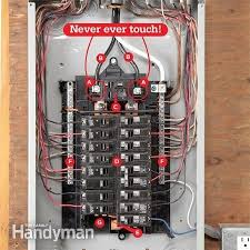 breaker box safety how to connect a new circuit the family Replacing A Fuse Box With A Breaker Box breaker box safety how to connect a new circuit the family handyman with replacing replace a fuse box with a breaker box