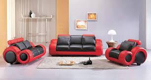 4088 contemporary black and red sofa set