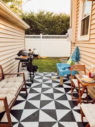 how i painted my cement patio before