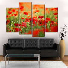 Living Room Canvas Paintings Canvas Art Poppies Reviews Online Shopping Canvas Art Poppies