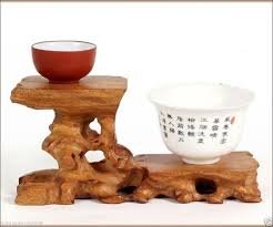 Wooden Display Stands For Figurines Hard Wood Crafted 100 Tiers High Low Display Stand For Teapot Cup 42