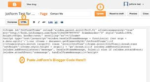 form to adding a form to blogger jotform