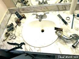 changing faucet in bathroom sink how to replace a washer change
