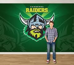 on canberra raiders wall art with pro art nrl murals canberra raiders crnrlw1