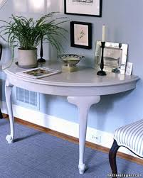 half table for hallway. You Can Turn A Table That\u0027s Damaged In One Side Or Is Missing Leg Into Half-table Console For Your Home\u0027s Entryway Hallway. Half Hallway R