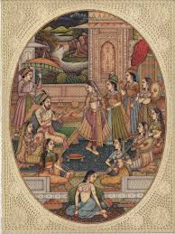 Small Picture Mughal Miniature Painting Handmade India Moghul Empire Harem Home