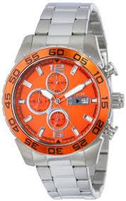 amazon com invicta men s 15154 specialty chronograph stainless amazon com invicta men s 15154 specialty chronograph stainless steel orange dial watch watches