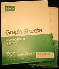 Graph Paper Semi Log 3 5 Cycles 70 Divisions K E Keuffel