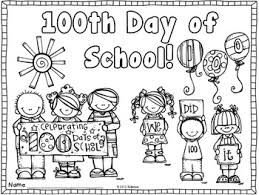 Small Picture Enjoy this coloring page to use to celebrate 100 days in school
