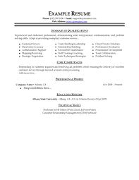 Customer Service Resume Template Free Adorable Basic Customer Service Resumes Goalgoodwinmetalsco