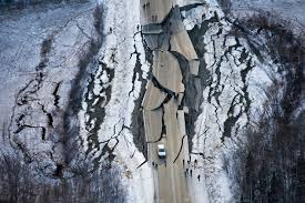Alaska earthquake: Incredible images of where the ground ripped in ...
