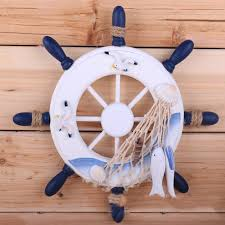 2018 ornamental home hangings nautical marine pirate ship home decor wood crafts helm wheel wall decoration for boys kids room from sophine12