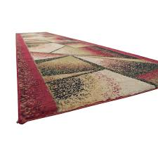 burdy green and black runner rug on