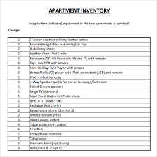 Property Inventory Template Free Download Landlord Inventory Template 5 Download Free Documents In Pdf Word
