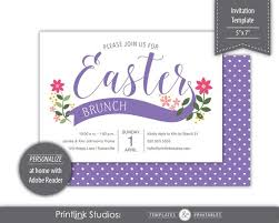 Easter Greeting Card Template Beauteous Banner Bouquet Easter Brunch Dinner Invitation Template