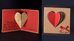 Valentinsday Card Happy Valentines Day Card Pop Up Heart Card Tutorial With Love