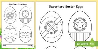 Superhero Easter Eggs Colouring Page Easter Egg Superhero