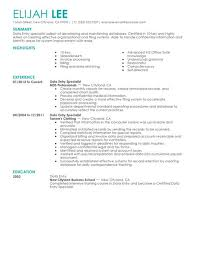 choose completed resume examples