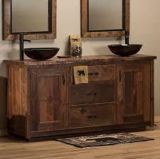 rustic bathroom double vanities. Brilliant Rustic Timber Frame Barnwood Vanity And Rustic Bathroom Double Vanities L