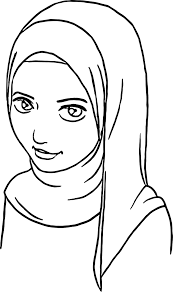 Anime Muslim Girl Coloring Page Wecoloringpagecom