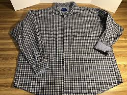 Egara Size Chart Egara Mens Dress Shirt Size 2x Brown Blue Plaids Checks Long