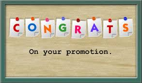 Image result for congratulations on promotion