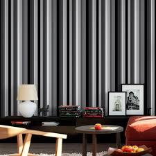 Veja adesivo de parede preto quarto no shopping eleito o melhor shopping de decoração do país. Papel De Parede Adesivo Listras Nas Cores Pretas E Cinza Bsb Decore