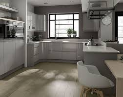 A high gloss modern Remo Dove Grey kitchen design idea for the modern home.  http