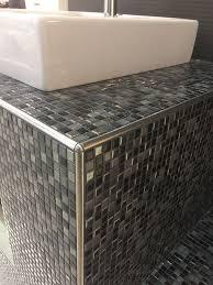 Unterkonstruktion Waschtisch Aus Wedi Bauplatten Mosaik Fliesen